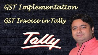 Implementation of GST in Tally ERP 9 in hindi part 1   GST Sales  & Purchase Invoice with Tax