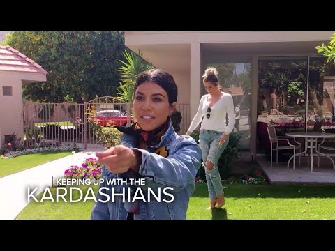 KUWTK Kardashian Sisters Visit Their Grandparents Old House E