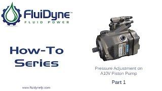 How To Change Pressure Adjustment on A10V Piston Pump - Part 1
