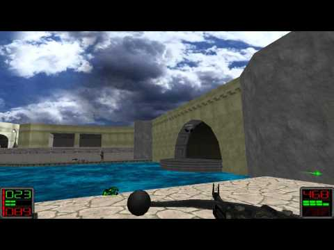 Star Wars Jedi Knight: Dark Forces II - (Level 5) Baron's Hed - The Fallen City
