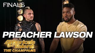 LOL! Preacher Lawson Attempts To Throw Knives At Deadly Games - America