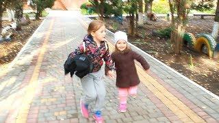 AU FUGIT de la GRADINITA/ COPIII Sofia si Sara au fugit de la gradinita/ Video Pentru Copii