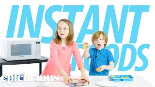 Kids Try 100 Years of Instant Foods | Bon Appétit