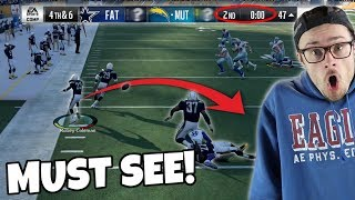 END OF HALF - THE LUCKIEST TOUCHDOWN THAT YOU MAY EVER WATCH!! Madden 18 Packed Out