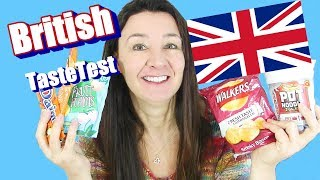 British Taste Test Pot o Noodles Walkers Crisps and More