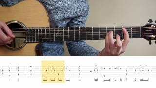 Ed Sheeran - Supermarket Flowers - Fingerstyle Guitar TABS Tutorial (Lesson) Mattias Krantz