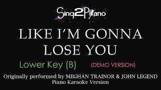Like I'm Gonna Lose You (Lower Key - Piano karaoke demo)