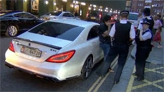 Arab CLS 63 Brabus AMG gets Impounded by the Police in London