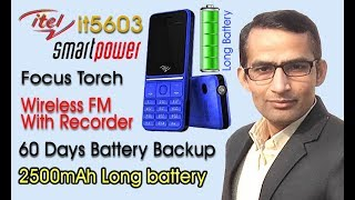Unboxing and Review of Itel smartpower it5603, 60 days Battery backup, Wireless FM with Recorder