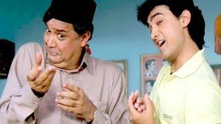 Aamir Khan, Deven Verma, Asrani - Andaz Apna Apna - Comedy Scene 5/23