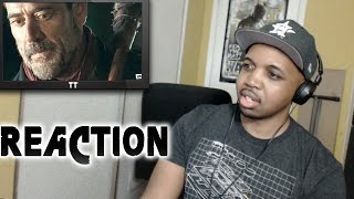 REACTION to Walking Dead Season 6 Episode 16 Negan Finale Death 6x16