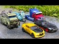 Download Video Transformers 5 2017 TLK Autobots Optimus Prime Bumblebee Hound Drift Sqweeks Hound Car Robot Toys 3GP MP4 FLV