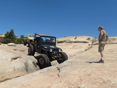 Willys and a Wrangler on the Rusty Nail Trail in Moab 2017