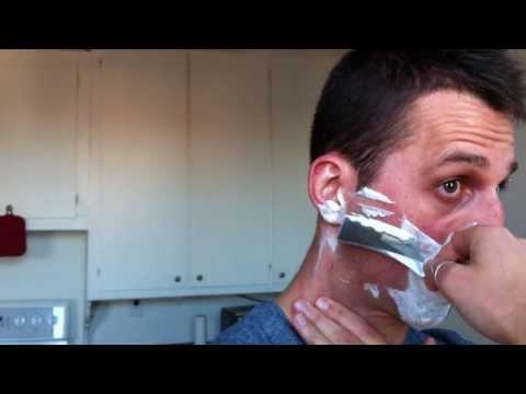 Rasage Coupe Choux Ali's Blade + Jabonman (Straight razor shaving Ali's Blade + Jabonman)