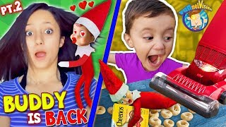 Our ELF on the SHELF Loves LEXI!! Buddy In a VACUUM! (FUNnel Xmas Vision Days 4-7)