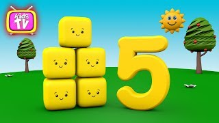 Cartoon Learn Number with funny cubes - Number Learning for kids