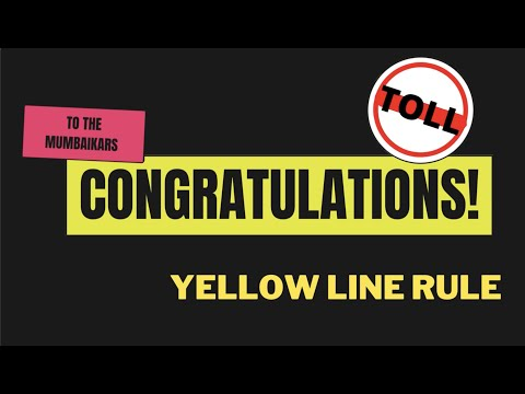 Dahisar toll plaza not following yellow line rule.