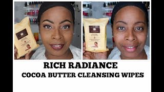 Rich Radiance Cocoa Butter MAKEUP REMOVER Cleansing Wipes | SOLD IN DOLLAR TREE!!!