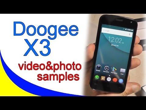 Doogee X3 пример записи видео и фотоснимков