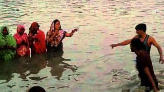 Kursela Tinghariya chath river scene)