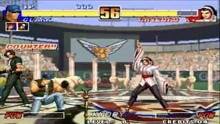 Tips vs Bosses Clark vs Chizuru KOF 96