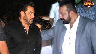 Salman Rubbishes All Fight Rumors With Sanjay By Attending His Diwali Bash | Bollywood News