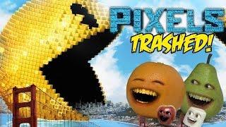 Annoying Orange - PIXELS TRAILER Trashed!!