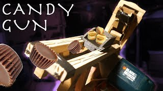 Make a Full Auto CANDY GUN! - Wifi Controlled (IT ATTACKED ME!!!)