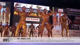 mr india 2015 final comparison between vipin peter,sangram chougule and murali kumar