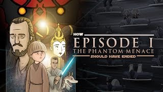 How Star Wars The Phantom Menace Should Have Ended