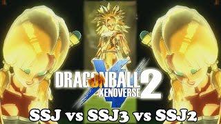 Dragon Ball Xenoverse 2 Differences SSJ vs SSJ2 vs Super Saiyan 3