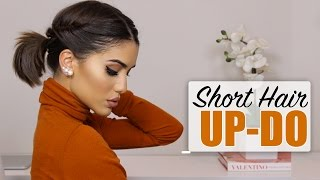 Easy Short Hair Updo!