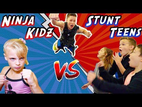 WHO WILL WIN Ninja Kidz vs Stunt Teens