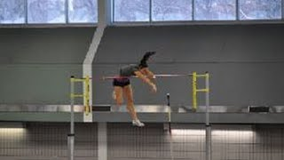Women's indoor provincial record in the pole vault : 4.35 m (Melanie Blouin)
