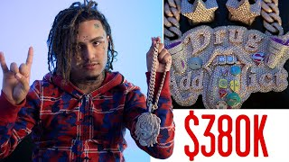 Lil Pump Shows Off His Insane Jewelry Collection | On the Rocks | GQ