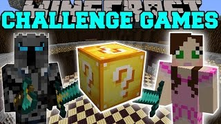 Minecraft: PAT VS JEN CHALLENGE GAMES - Lucky Block Mod - Modded Mini-Game