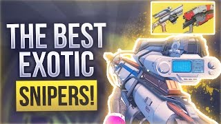 Destiny USING THE 2 BEST EXOTIC SNIPERS - Destiny Exotic Snipers