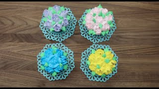 Floral Cupcakes with Russian Tips