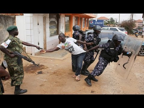 Xxx Mp4 Gunfire In Kampala As Security Forces Quell Protests Over Bobi Wine Detention 3gp Sex