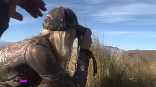 Girl shoots giant Stag