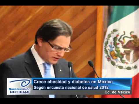 Crece obesidad y diabetes en México. Según Encuesta Nacional de Salud 2012