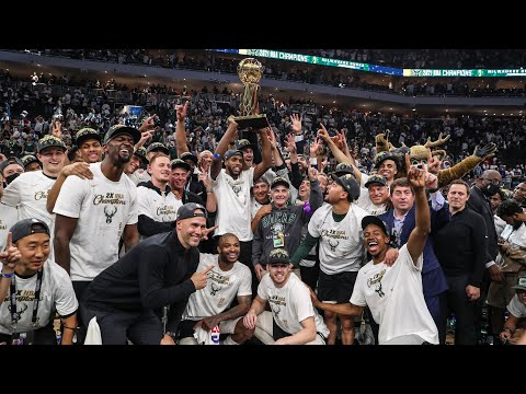 NBA Championship Trophy Presentation Giannis Antetokounmpo is the NBA Finals Most Valuable Player