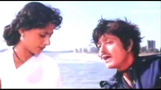 Emotinal Scene - Raaj Kumar & Smita Patil  @ Galiyon Kaa Badshah - Mithun, Raaj Kumar, Hema Malini