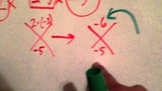 Factoring Polynomials: Diamond Method