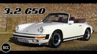 PORSCHE 911 3.2 G50 Cabriolet 1986 - Test drive in top gear - Engine sound   SCC TV