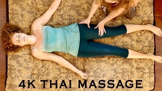 4K Massage Therapy: Relaxing Full Body Thai Massage Part 2: Legs | ASMR Soft Spoken with Music