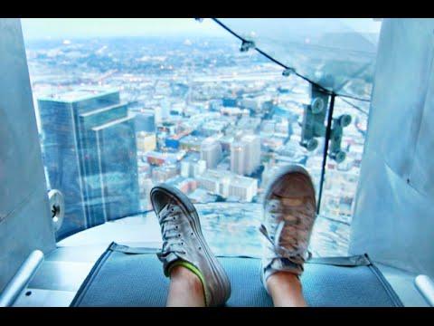 Riding LA s 1 000 ft GLASS SLIDE