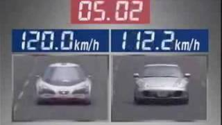 japanese electric car vs Porsche 911 turbo