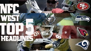 NFC West Top 5 Offseason Headlines Heading into the 2017 Season! | NFL NOW
