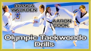 OLYMPIC TAEKWONDO KICKING DRILLS | Improve Co-Ordination, Reaction & Speed | GNT Tutorial